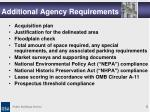 additional agency requirements