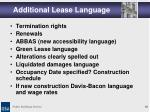 additional lease language