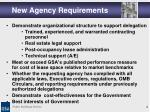 new agency requirements