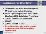 solicitation for offer sfo