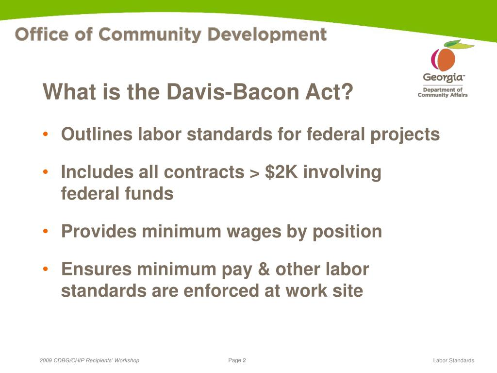 What is the Davis-Bacon Act?
