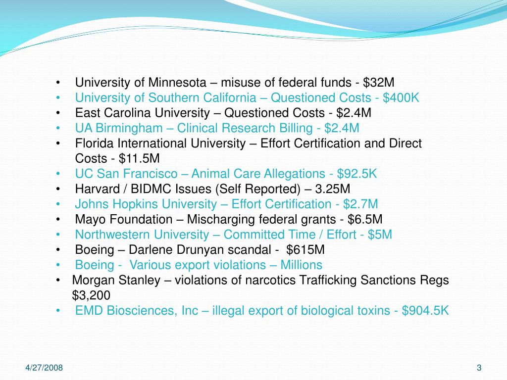 University of Minnesota – misuse of federal funds - $32M