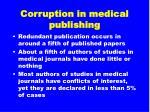 corruption in medical publishing