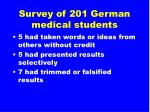 survey of 201 german medical students23