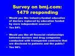 survey on bmj com 1479 responding65