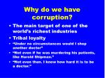 why do we have corruption61