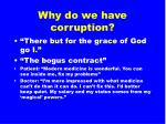 why do we have corruption62