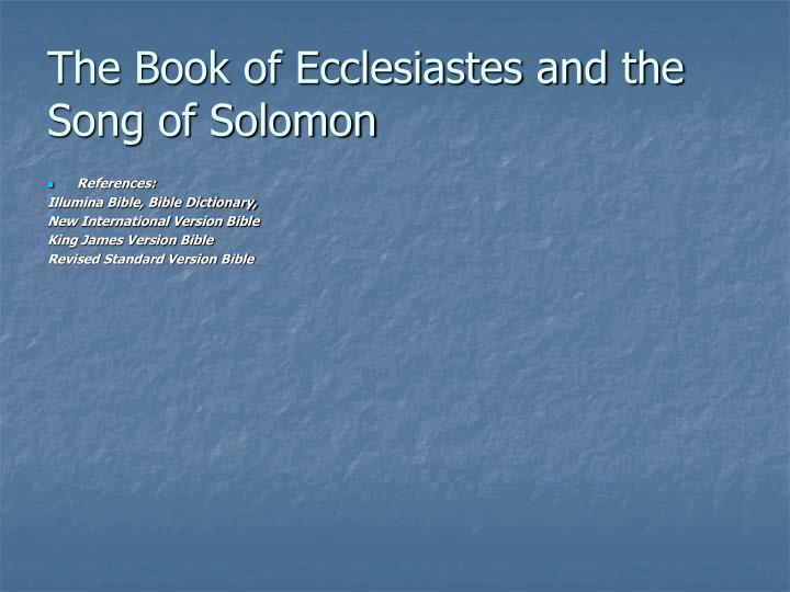 comparing the book of job to ecclesiastes essay To ask other readers questions about the wisdom of proverbs, job, and ecclesiastes, please sign up be the first to ask a question about the wisdom of proverbs, job, and ecclesiastes lists with this book.