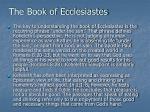 the book of ecclesiastes9