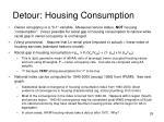 detour housing consumption
