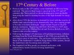 17 th century before