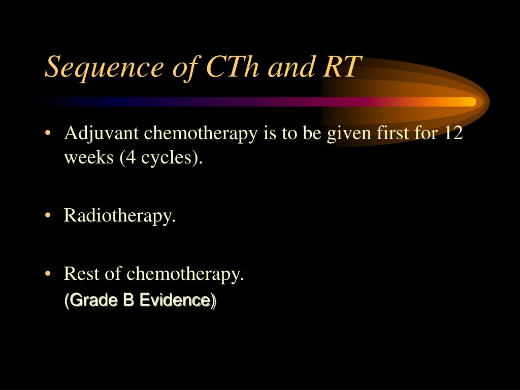 Sequence of CTh and RT