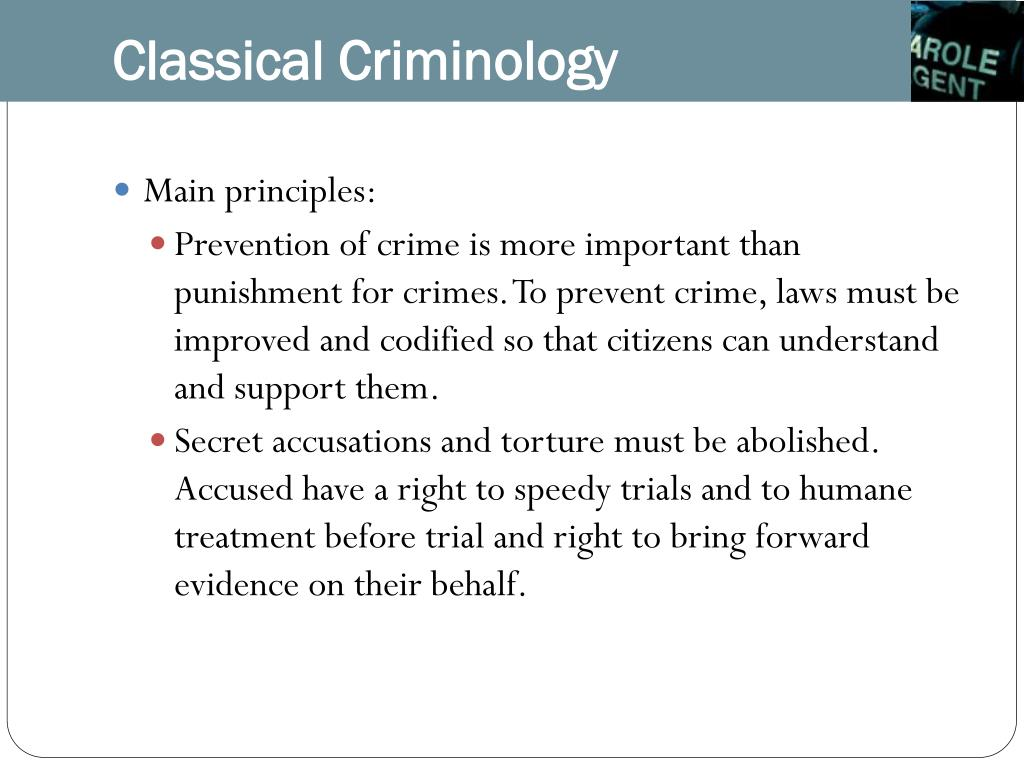 Classical Criminology