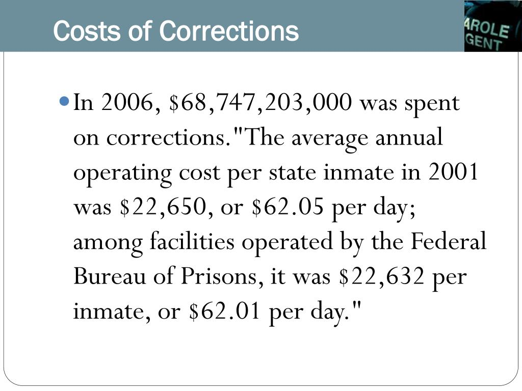 Costs of Corrections