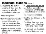 incidental motions cont