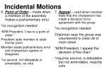 incidental motions