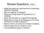 review questions cont