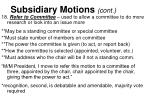 subsidiary motions cont1