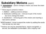 subsidiary motions cont2