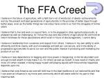 the ffa creed1