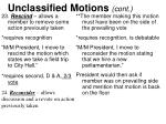 unclassified motions cont