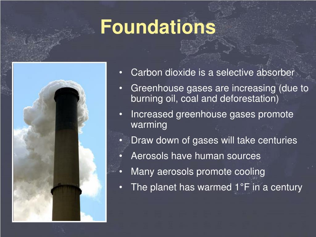 Carbon dioxide is a selective absorber