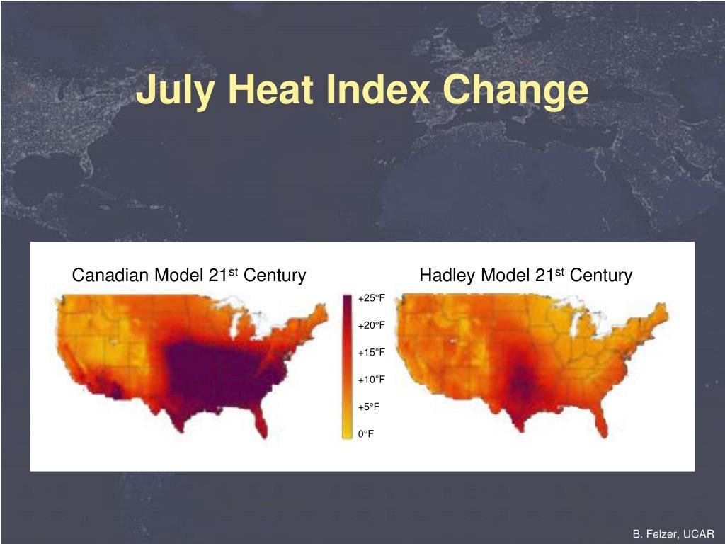 July Heat Index Change