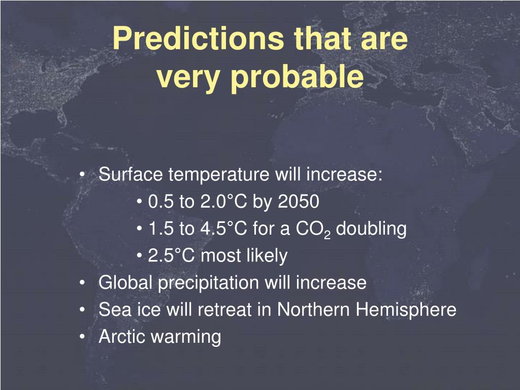 Surface temperature will increase: