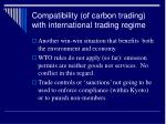 compatibility of carbon trading with international trading regime
