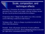 scale composition and technique effects