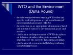 wto and the environment doha round
