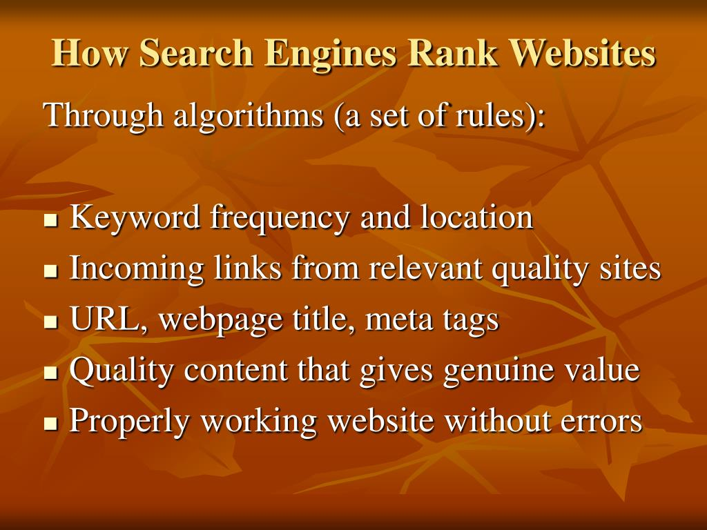 How Search Engines Rank Websites