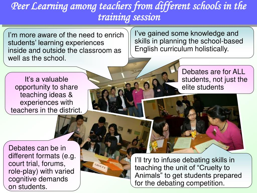 Peer Learning among teachers from different schools in the training session