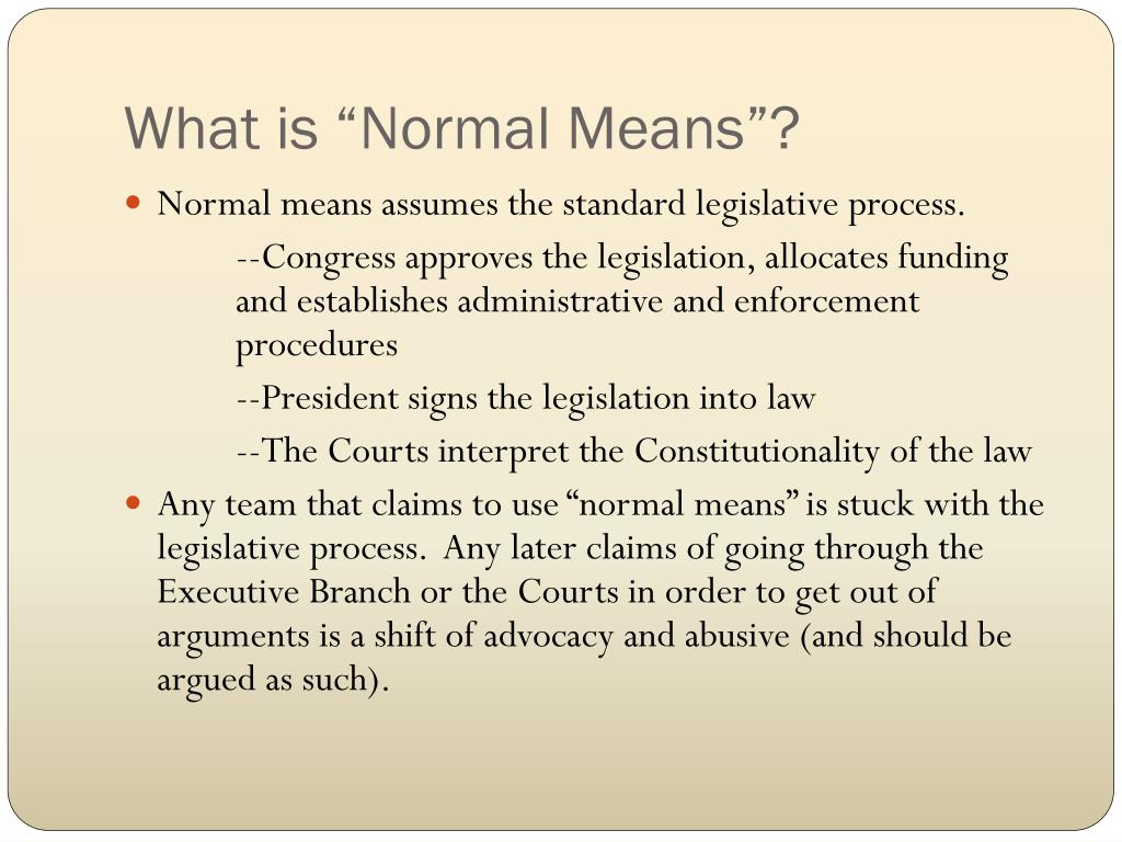 """What is """"Normal Means""""?"""
