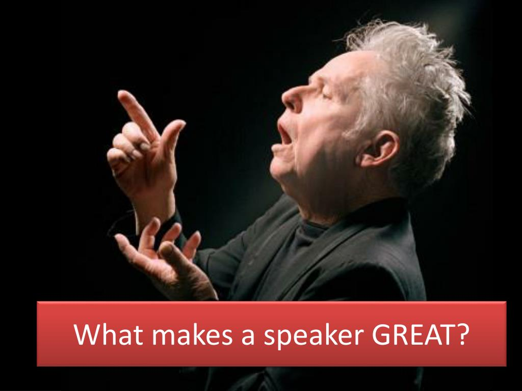 what makes a good presenter and speaker