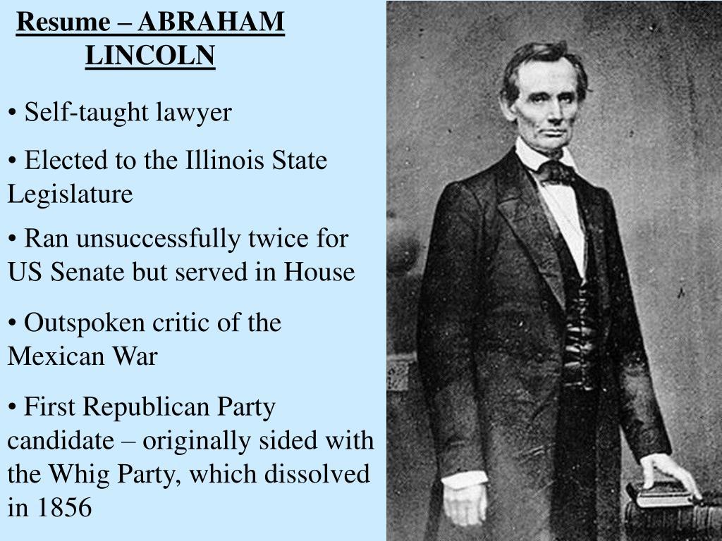 Resume – ABRAHAM LINCOLN