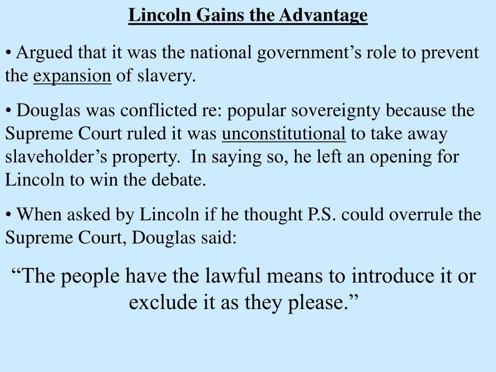 Lincoln Gains the Advantage