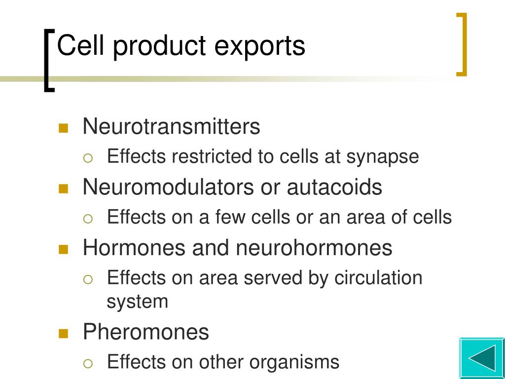 Cell product exports