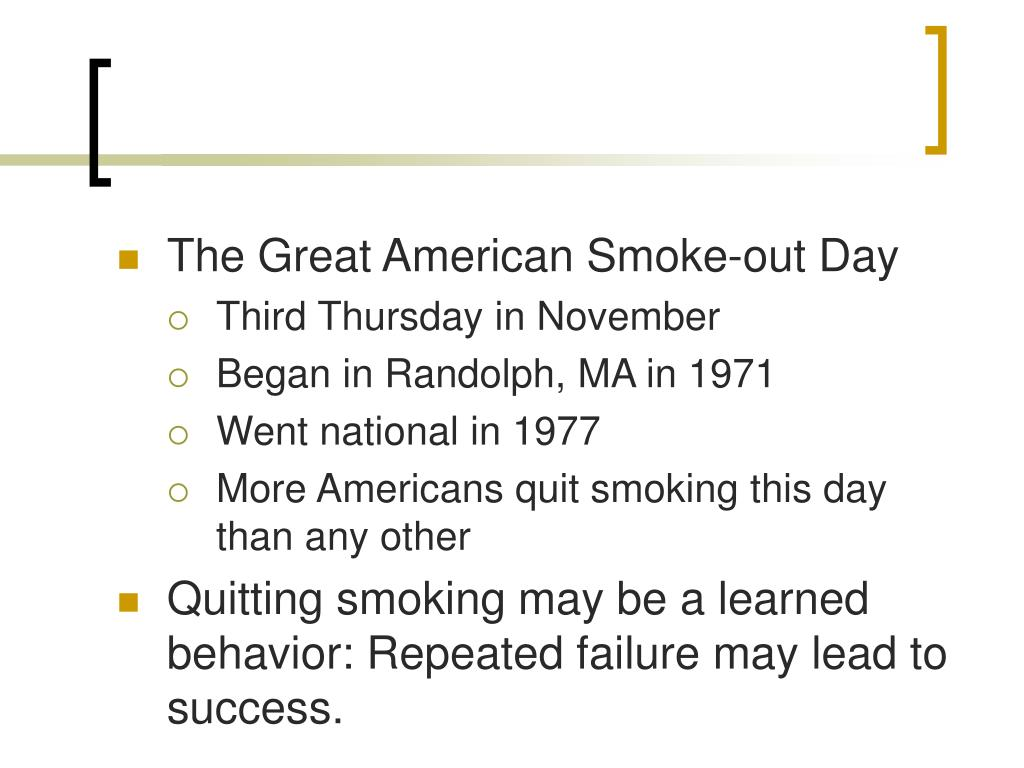 The Great American Smoke-out Day