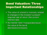bond valuation three important relationships