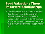 bond valuation three important relationships40