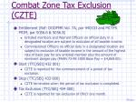 combat zone tax exclusion czte