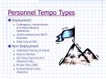 personnel tempo types