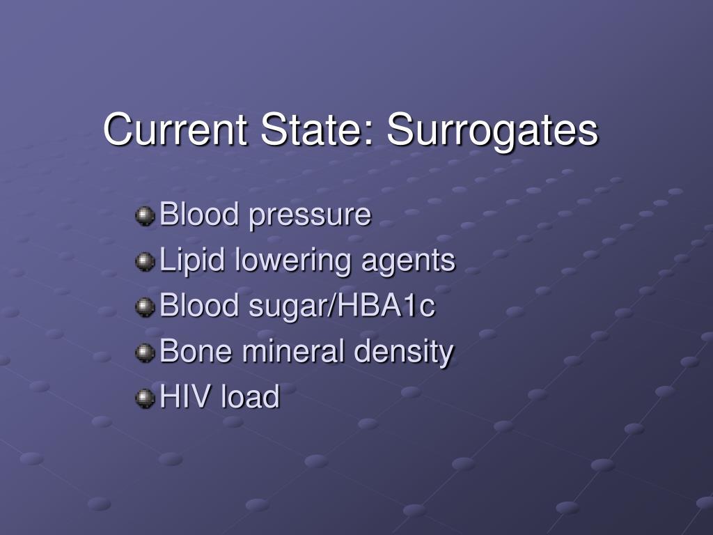 Current State: Surrogates