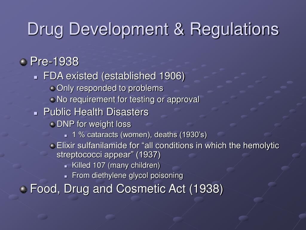 Drug Development & Regulations