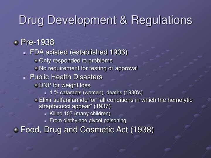 Drug development regulations