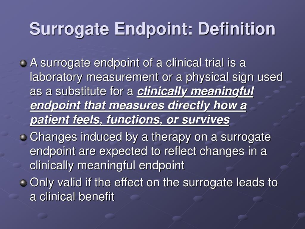Surrogate Endpoint: Definition