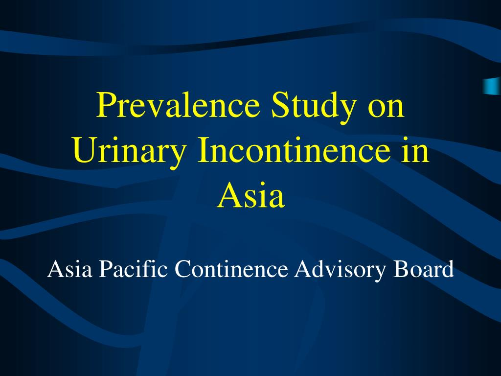 Prevalence Study on Urinary Incontinence in Asia