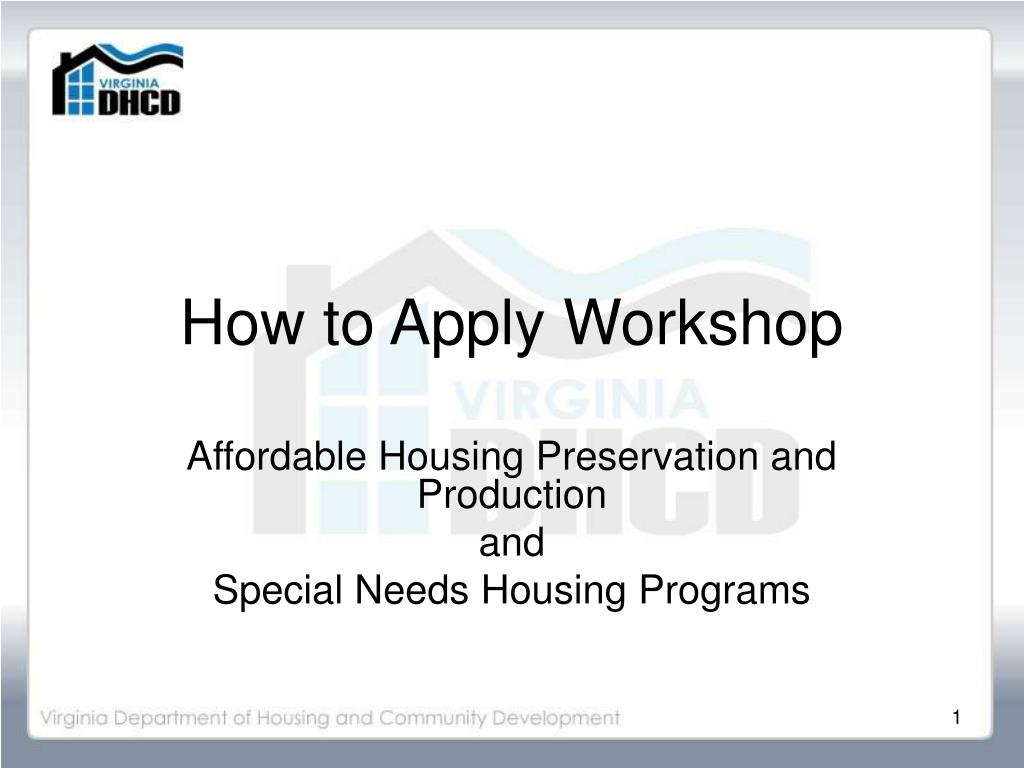 how to apply workshop l.