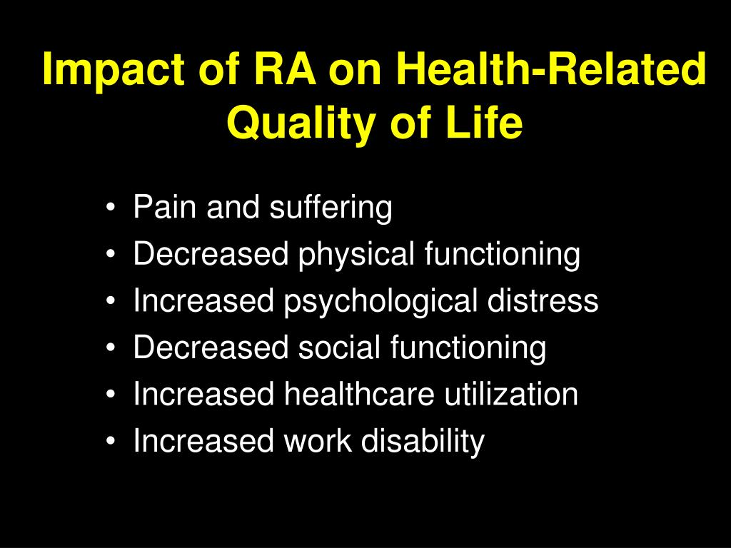 Impact of RA on Health-Related Quality of Life